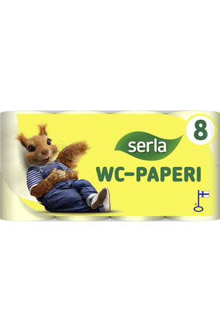Serla Toilet WC-paperi yellow 8 / 40 rl