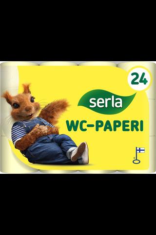 Serla Toilet WC-paperi 24 rl keltainen