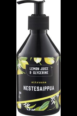 Lemon Juice & Glycerine 275ml Sitruuna nestesaippua
