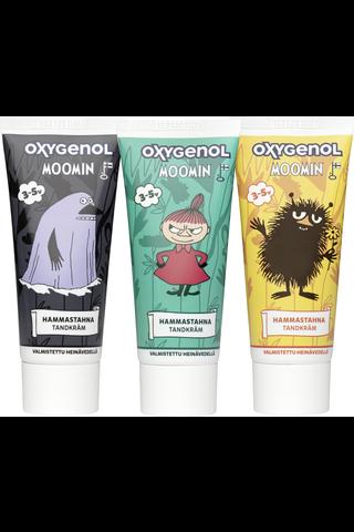 Oxygenol Muumi 50ml 3-5-vuotiaat ksylitoli fluorihammastahna