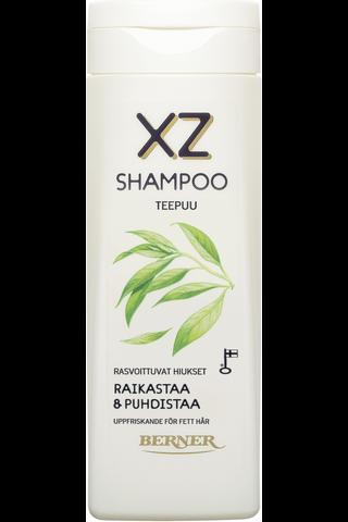 XZ 250ml shampoo rasvoittuville hiuksille teepuu