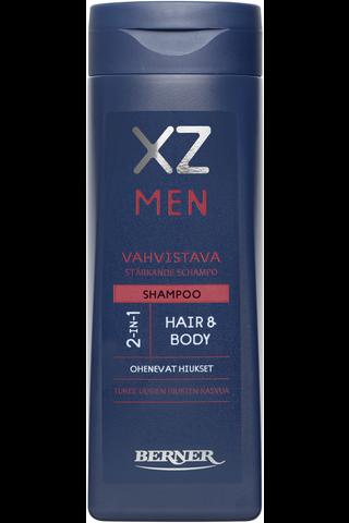 XZ 250ml Men 2-in-1 vahvistava shampoo