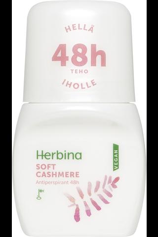 Herbina 50ml Cashmere Roll-on 48h antiperspirantti