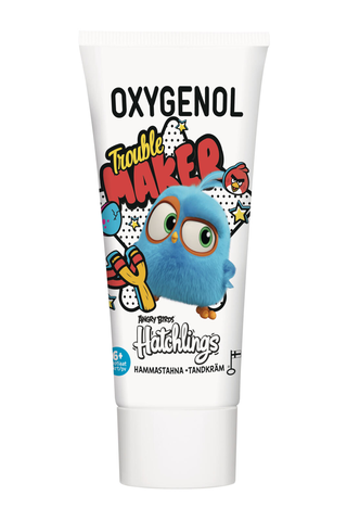Oxygenol 50ml Angry Birds Vadelma hammastahna 6+ Hatchlings