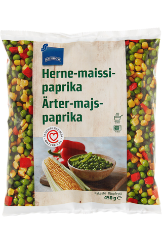 Rainbow Herne-maissi-paprika 450 g