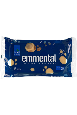 Kotimaista sinileima Emmental juusto  500 g