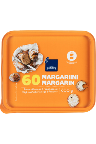 Rainbow 600g margariini 60%
