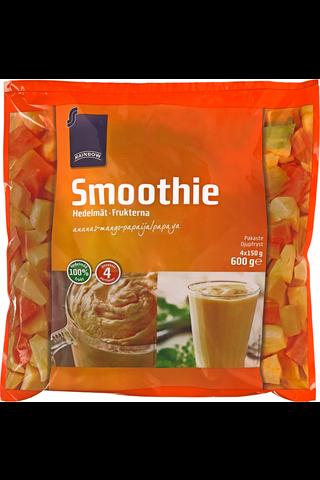 Rainbow Smoothie hedelmät ananas-mango-papaija 600 g, 4 ps