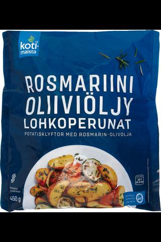 Kotimaista rosmariini-oliiviöljy lohkoperuna 450 g