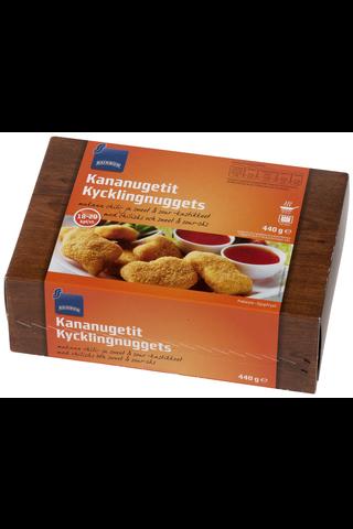 Rainbow Kananugetit dippikastikkeilla, 18-20 kpl, 440 g