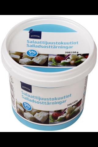 Rainbow Salaattijuustokuutiot 5 %, 350/150 g