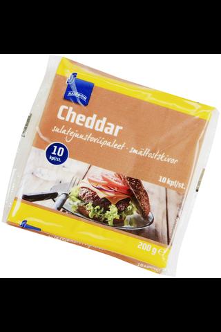 Rainbow Cheddar sulatejuustoviipaleet 200 g, 10 kpl