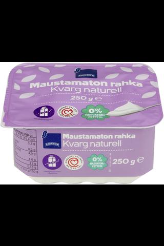 Rainbow Maustamaton rasvaton rahka vähälaktoosinen 250 g