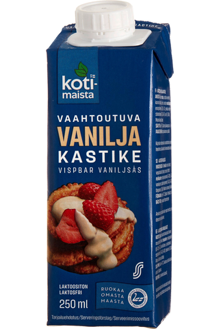 Kotimaista Vaahtoutuva vaniljakastike laktoositon 250 ml