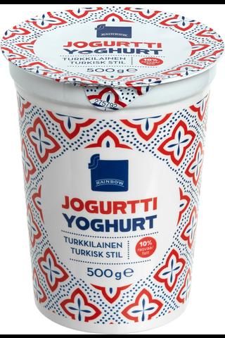 Rainbow jogurtti Turkkilainen 10% rasvaa 500 g