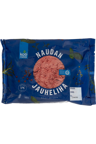 Kotimaista 700g Naudan jauheliha 17%