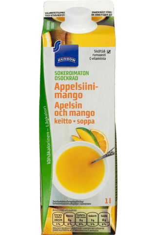 Rainbow 1l appelsiini-mangokeitto sokeroimaton