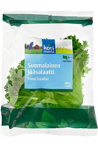 Kotimaista 100g suomalainen jääsalaatti pakattu