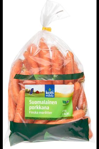 Kotimaista 2kg suomalainen porkkana