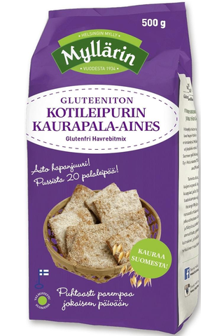 Myllärin 500g Gluteeniton Kotileipurin Kaurapala-aines