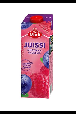 Marli Juissi 1L Mustikka-vadelmamehujuoma