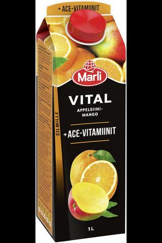 Marli Vital Appelsiini-mango + ACE-vitamiinit vitaminoitu mehujuoma 1L