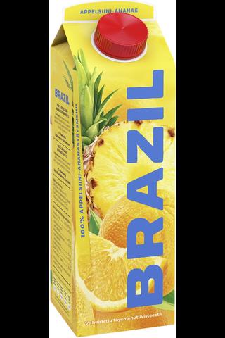 Brazil 1l appelsiini-ananastäysmehu 100%