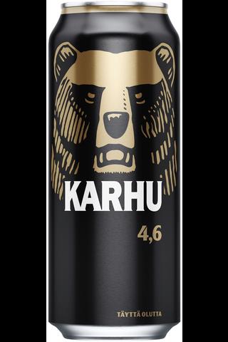 1x Karhu Lager olut 4,6% tölkki 0,568 L