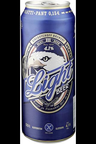 KOFF Light Beer olut 4,1 % tölkki 0,5 L