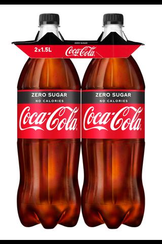 Coca-Cola Zero 150 cl 2P kierrätysmuovipullo virvoitusjuoma