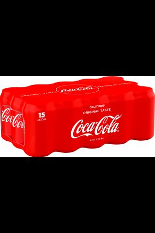 15x 15-pack Coca-Cola Original Taste virvoitusjuoma tölkki 0,33 L