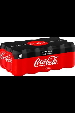 Coca-Cola Zero 33 cl tlk 15-pack virvoitusjuoma