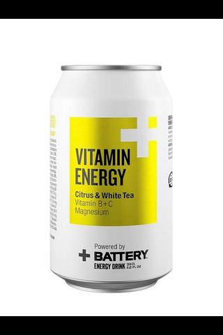 Battery Vitamin Energy Citrus & White tea 0,33 l tölkki energiajuoma