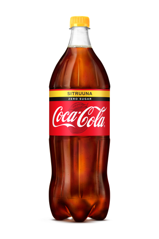 Coca-Cola Zero Sugar Sitruuna virvoitusjuoma muovipullo 1,5 L