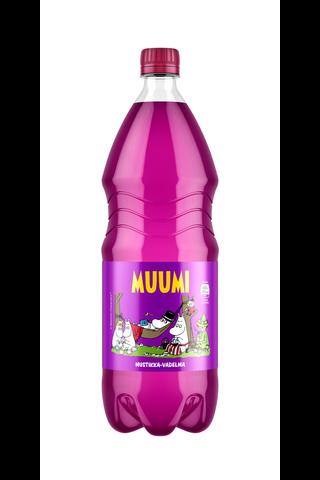 Muumi Mustikka-Vadelma virvoitusjuoma muovipullo 1,5 L