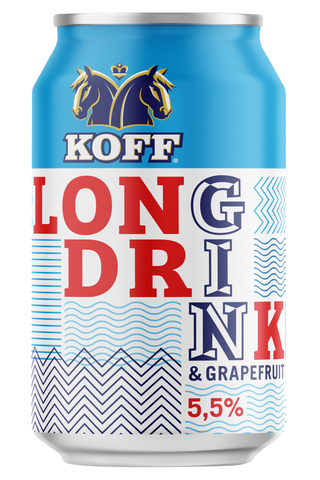 Koff long drink Grapefruit 5,5% tlk 0,33 L