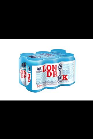 Koff long drink Grapefruit 5,5% 0,33L tlk 6-pack