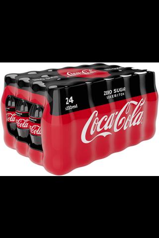Coca-Cola Zero Sugar virvoitusjuoma 24-pack 0,33l muovipullo