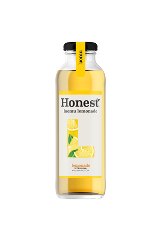 Honest Luomu Lemonade hedelmäjuoma lasipullo 0,33 L