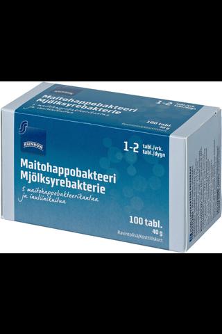 Rainbow 40g maitohappobakteeri 100 tablettia