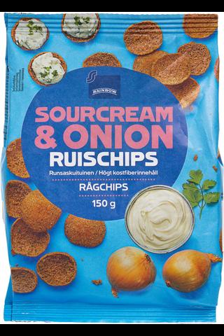 Rainbow RuisSipsi 150g Sour Cream &Onion