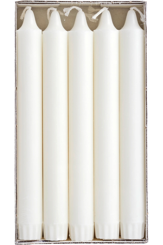 Rainbow kruunukynttilä 20 cm 10 kpl valkoinen