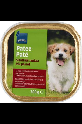 Rainbow Koiran lihapatee, sisältää naudanlihaa, 300 g