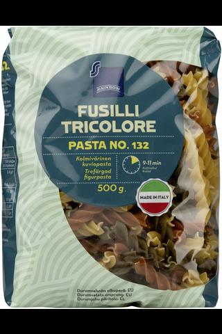 Rainbow Fusilli tricolore kolmivärinen kuviopasta 500 g
