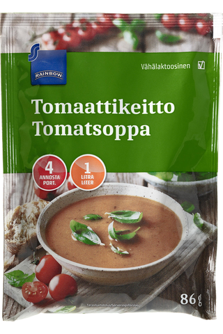Rainbow Tomaattikeitto 86 g, 4 annosta · 1 litra
