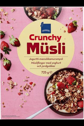 Müsli Crunchy jogurtti-mansikka muromysli 725g