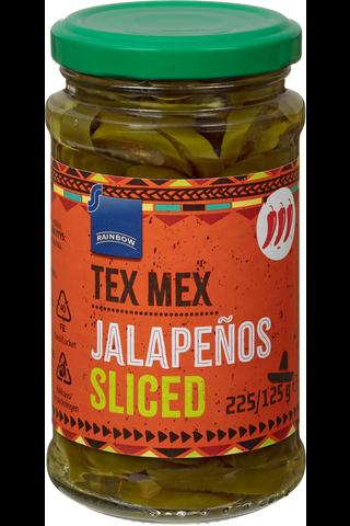 Rainbow Tex Mex Jalapenoviipaleet 225/125 g