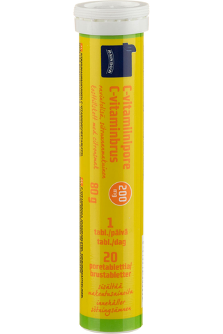 Rainbow 80g C-vitamiinipore 20 poretablettia