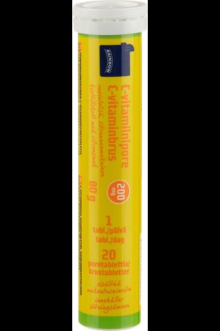 Rainbow 80g C-vitamiiniporetabletti sitruunanmakuinen 20kpl