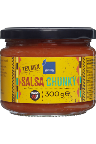 Rainbow Tex Mex Chunky salsa medium 300 g